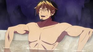 Azazel takes a bath