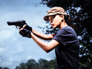 Christian Serratos as Rosita Espinosa in The Walking Dead S08