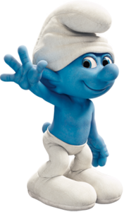 Clumsy Smurf in the Smurfs movie