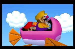 Mario party 2 mario and wario in the plane