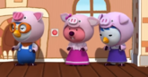 Pororo Petty and Loopy as The Three Little Pigs