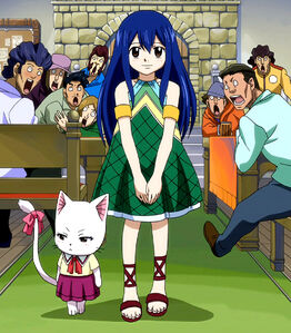 Wendy becomes a member of Fairy Tail