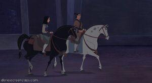 Khan Mulan Shang and Shang's horse