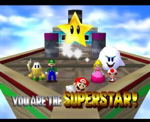Mario party 64 mario luigi peach koopa tropa boo and toad in Luigi's Engine Room