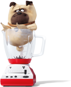 Mel get stuck on a Blender (The Secret Life of Pets 2)