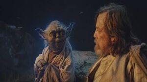 Star Wars The Last Jedi Yoda's Force Ghost Scene 1080p HD