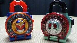 Heisei Rider Lockseed and Showa Rider Lockseed
