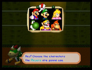 Mario party 2 64 all characters with Koopa Kid