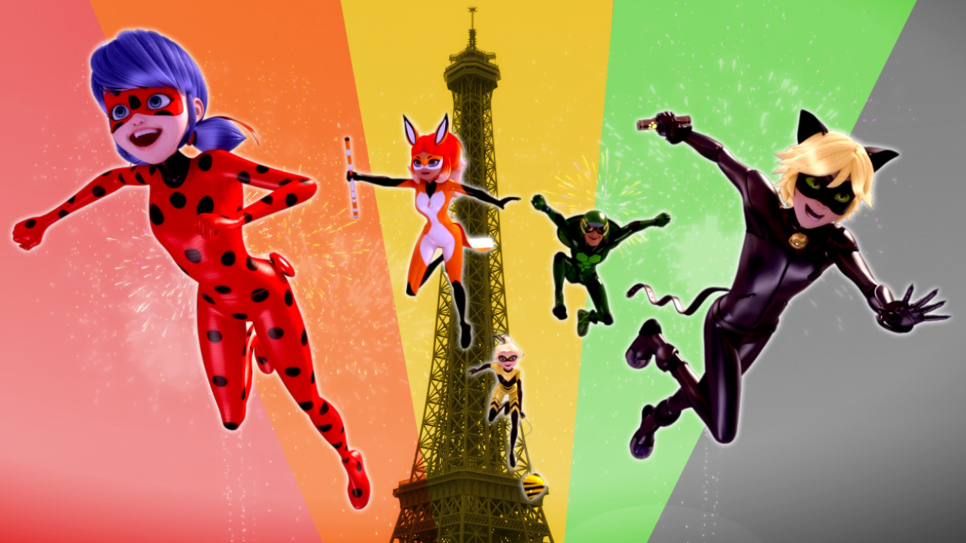 French Miraculous superhero team