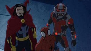 Spider-Man, Doctor Strange and Ant-Man