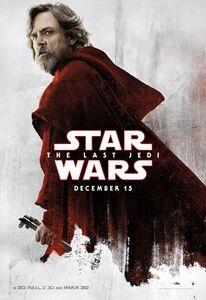 TLJ Luke White and Red Poster