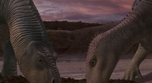 Aladar and Neera take a drink