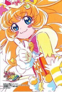 Miyamoto Emiko Cure Mofurun Animega postcard