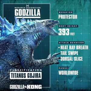 Official Godzilla vs. Kong Tale of the Tape Stat 1