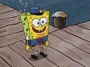 SpongeBob as hall monitor