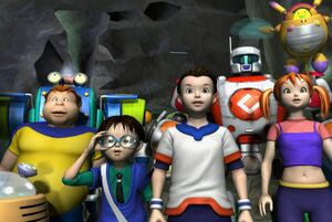 Connor, Abby, Mong, Chip, Cubix and Dondon