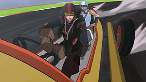 Asami and Korra racing