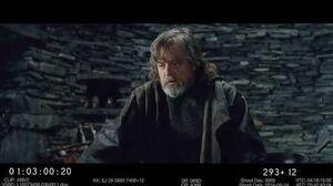 DELETED SCENE The Last Jedi Luke mourns the death of Han Solo