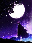 Kanae under moon