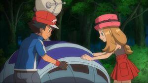 Ash and Serena fixing