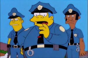 Chief Wiggum with Lou and Eddie
