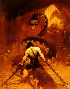 Conan vs snake