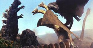 Godzilla, Rodan, & Mothra vs King Ghidorah