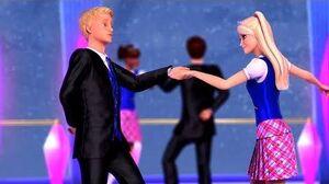 Barbie Princess Charm School - Blair meets Nicholas during the dance class
