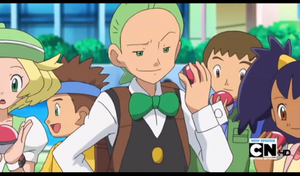Cilan with his Poke Ball.