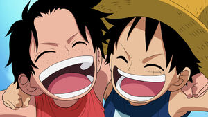 Ace and Luffy as kids