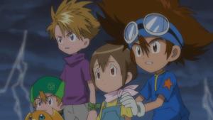 Patamon, T.K., Yamato, Hikari and Taichi
