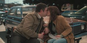 S2E3-Joyce and Bob kissing
