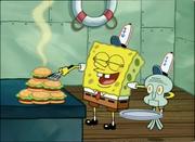 SpongeBob and Mini Squidward