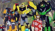 Bumblebee, Grimlock, Russell, Denny, Drift and Jetstorm
