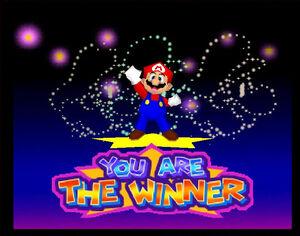 Mario Party 3 64 mario the winner