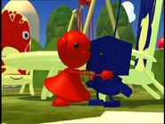 Red Zowie and Blue Binky