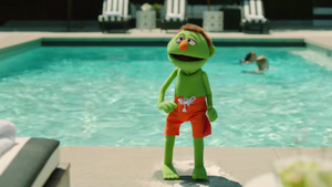 Lenny at the pool