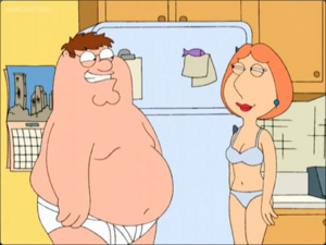 Lois and Peter stoned