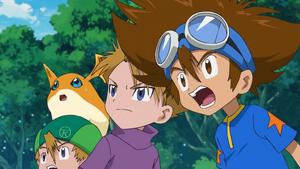 T.K., Patamon, Yamato and Taichi