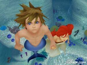 KHII - Sora helps human Ariel