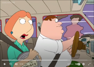 Peter and Lois being chased