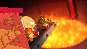 Stewie saves Rupert