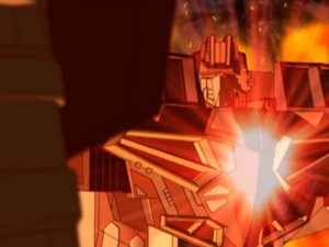 Wing Saber's Combination Spark glows