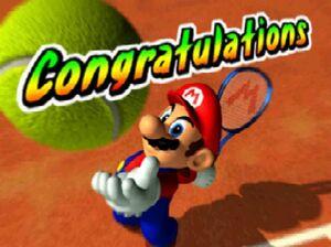 Mario Tennis 64 congratulations