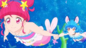 STPC27 - Hikaru and Yuni swim like a mermaid