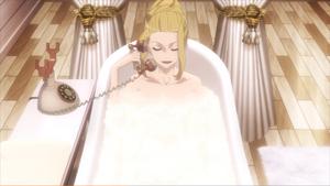 Luvis in bath and calls Lord el-melloi II