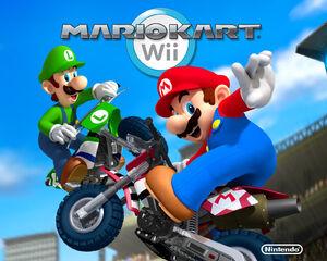Mario and Luigi bike mkwii