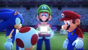 Mario and sonic at the olympic games tokyo 2020 story mode screenshot
