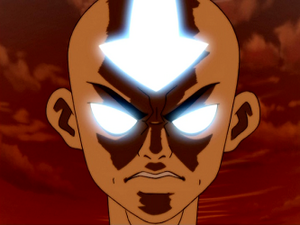 4347405896 Angry Aang in Avatar State xlarge