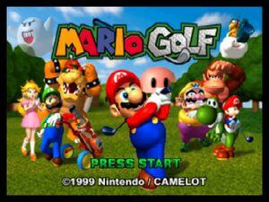 Mario Golf 64 title screen